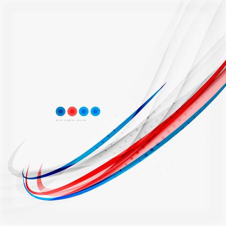 curvas: Rojo y azul concepto remolino de color, fondo abstracto Vectores