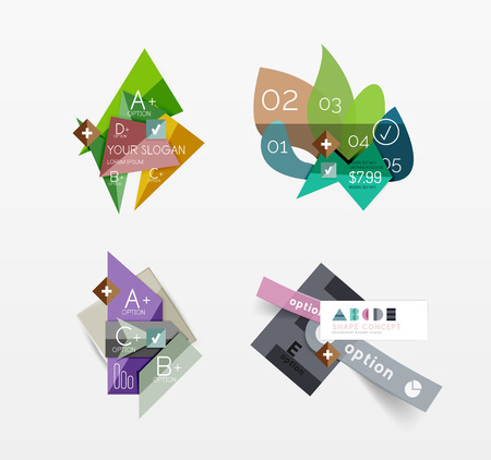 Set of vector abstract geometric layout Vector