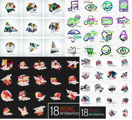 mega: Mega set of infographic templates Illustration