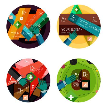 Modern flat design infographic banners Vector