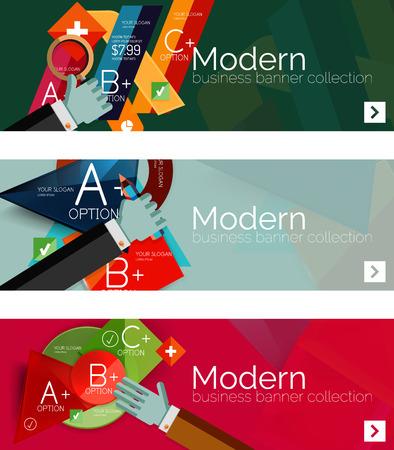 slide show: Modern flat design infographic banners