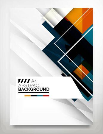 folders: Flyer, Folleto de plantilla de diseño Vectores
