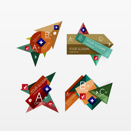 Paper graphics infographic web layouts Vector
