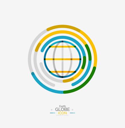 세계 지구의 로고 스탬프