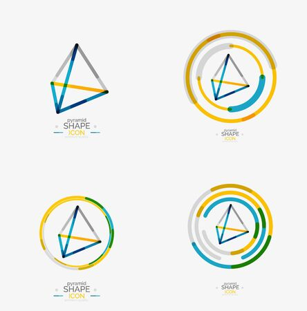 Pyramid shape line design Illustration