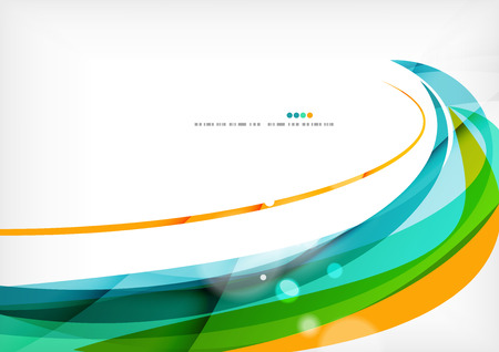 abstract white: Green orange yellow colors shiny line concept