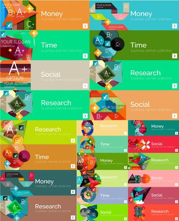 mega: Mega collection of flat design infographic banners