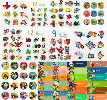 correo electronico: Mega colecci�n de infograf�a web planas