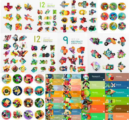 graphic design: Mega collection of flat web infographics