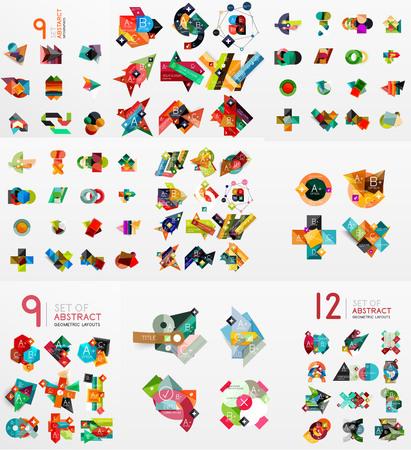 Vector set of paper graphics Illustration