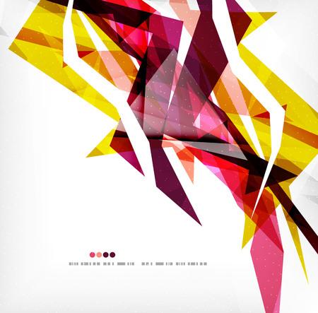 Hoekige geometrische Kleurenshapes Stock Illustratie