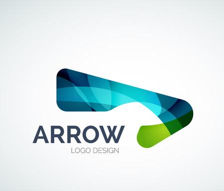 Abstract arrow logo design Ilustracja