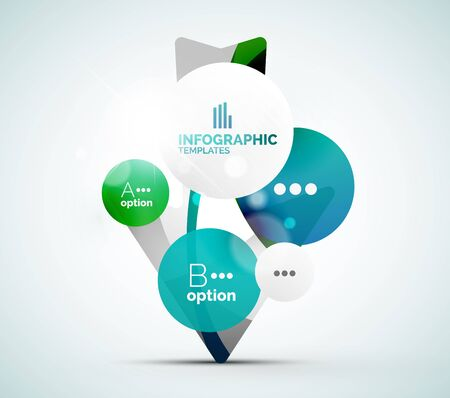 green banner: Modern business infographics Illustration