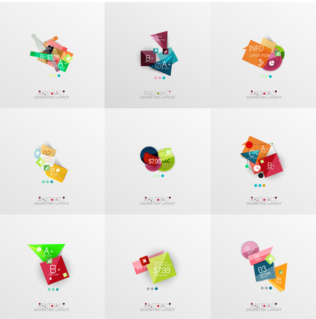 Set of paper graphic layouts Vector