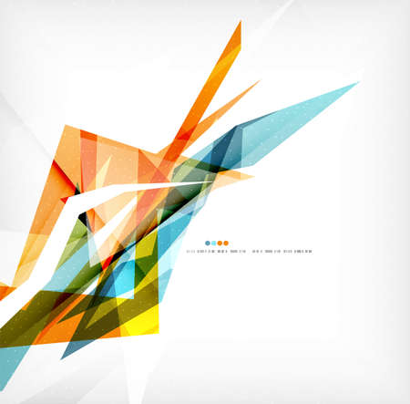 angular: Angular geometric color shapes Illustration