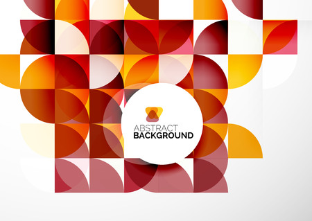 in a circle: Business Abstract Geometric Template
