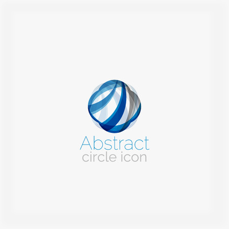 abstract shape: Circle abstract shape logo