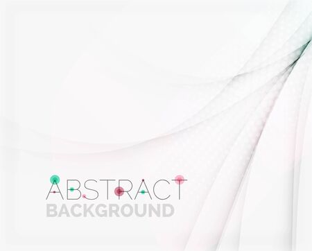 Corporate white background with gentle flowing waves Vector