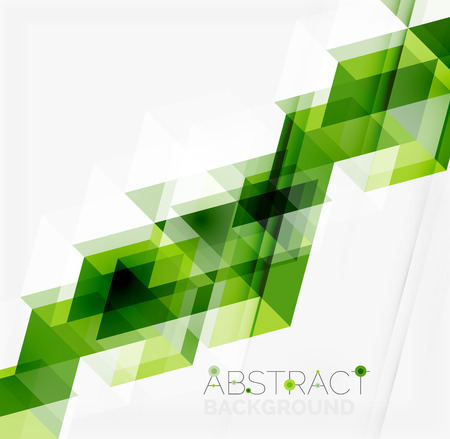 green banner: Abstract geometric background. Modern overlapping triangles Illustration
