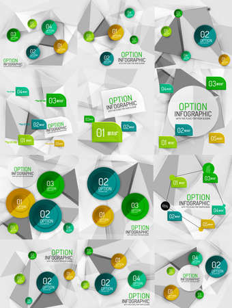 Set of vector business abstract infographics templates Vector