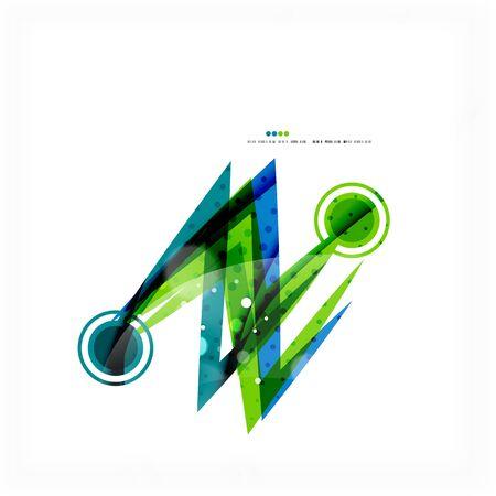 blue wave: Green blue wave lines Illustration