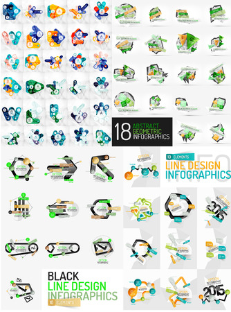 Mega set of infographic templates Vector