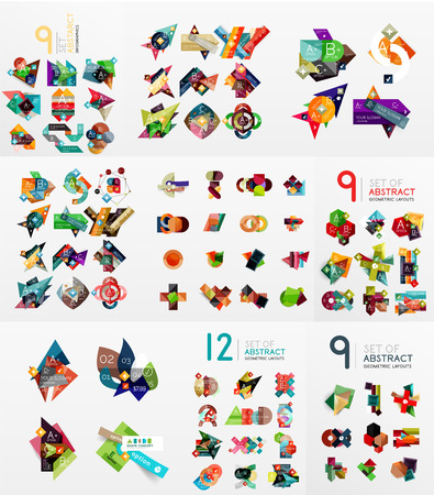 Vector set of paper graphics Vector