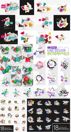 Vector mega set of modern business infographic templates Vector