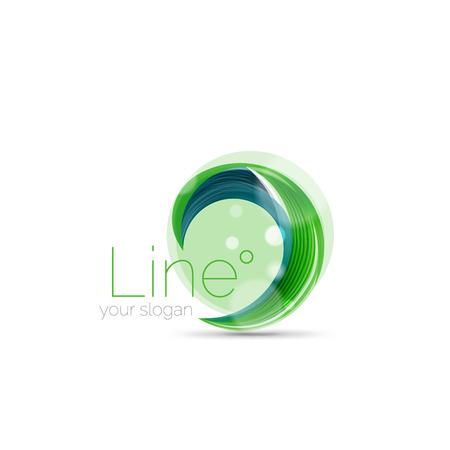 Swirl company logo design Vectores