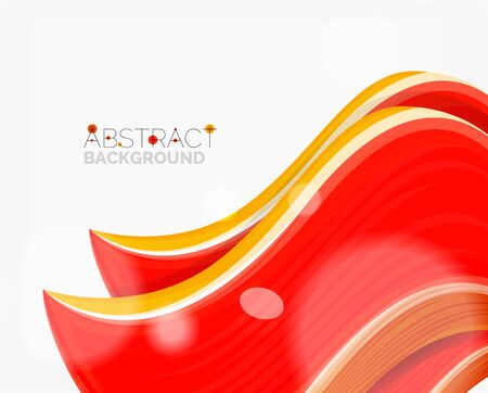 solid: Abstract realistic solid wave background Illustration