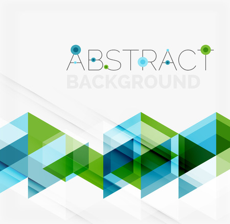 Abstract geometric background. Modern overlapping triangles 向量圖像