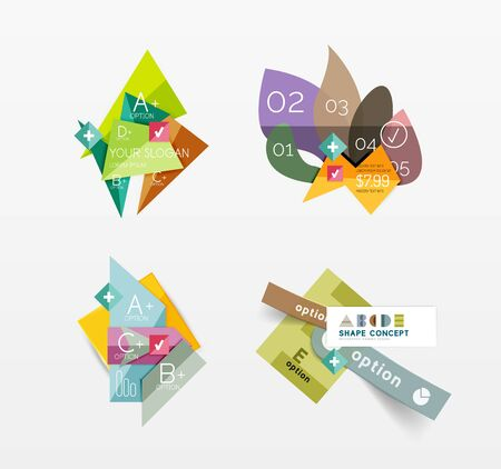 color illustration: Set of vector abstract geometric layout Illustration