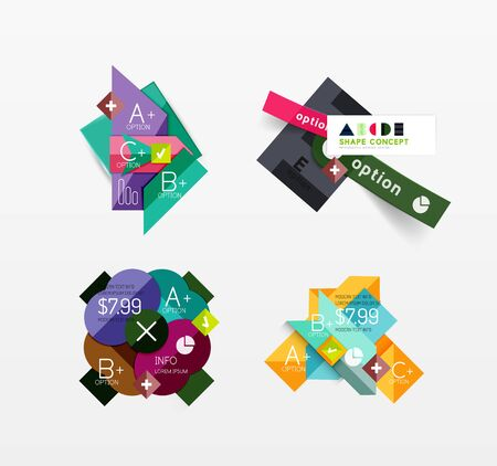 color palette: Set of vector abstract geometric layout Illustration