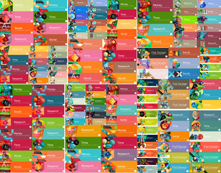 windows 8: Mega set of universal web option infographic banners Illustration