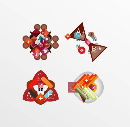 Set of abstract geometric shapes with options Vector