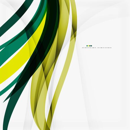 Shiny colorful abstract background, green and blue color Illustration