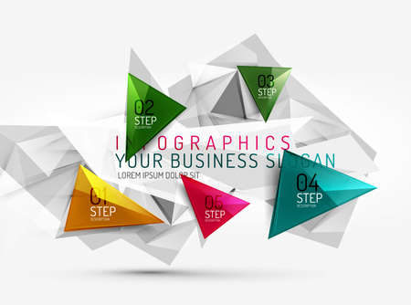 Vector fresh business abstract infographic Vector