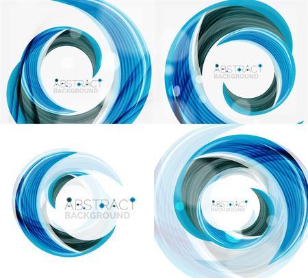 swirl: Vector blue swirl line abstract background Illustration