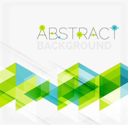 초록: 추상적 인 기하학적 배경. 현대 중복 삼각형