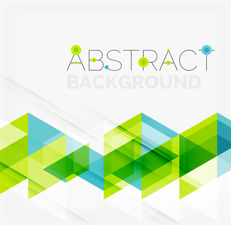 geometric lines: Abstract geometric background. Modern overlapping triangles Illustration