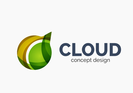 Modern cloud logo Vector