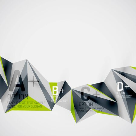Geometric shapes in the air. abstract background Vector