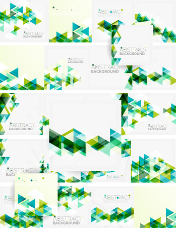 Abstract geometric background. Modern overlapping triangles Vectores