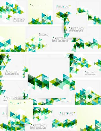 gestalten: Zusammenfassung geometrischen Hintergrund. Moderne überlappenden Dreiecken