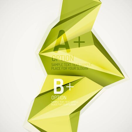 Geometric shapes in the air. Vector abstract background Vector