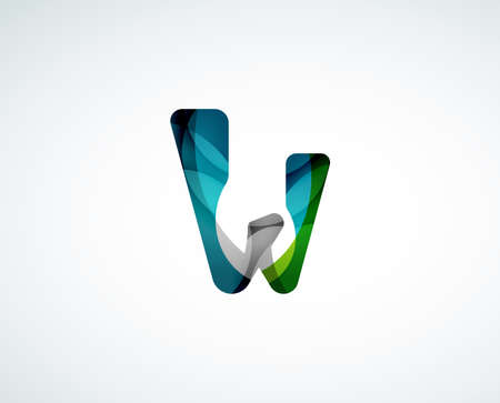 Abstract letter logo design Vector