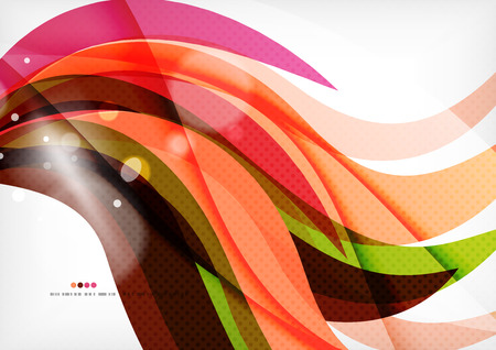 awesome wallpaper: Rainbow orange red brown line design Illustration