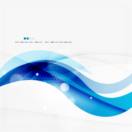 Blue business corporate wave line background Vector