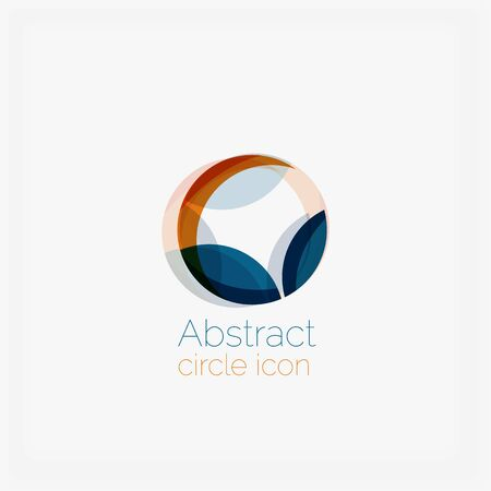 Clean elegant circle shaped abstract geometric icon Vector