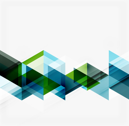 Abstract geometric background. Modern overlapping triangles Ilustração
